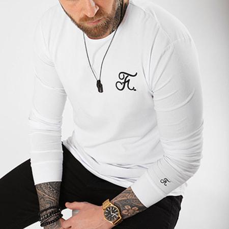 Final Club - Tee Shirt Manches Longues Premium Fit Avec Broderie 019 Blanc