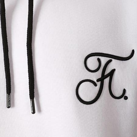 Final Club - Sweat Capuche Premium Fit Avec Broderie 024 Blanc