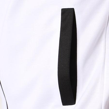 Anthill Veste Zippée Bicolore Logo Blanc Noir