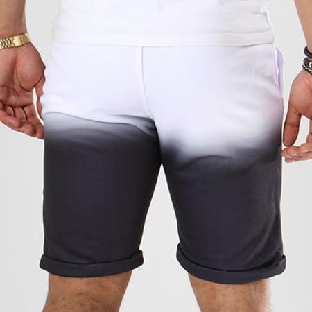 LBO - Short Jogging 391 Blanc Dégradé Noir