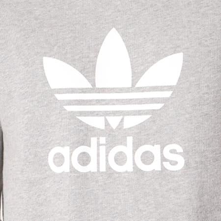 adidas - Sweat Crewneck Trefoil CY4573 Gris Chiné