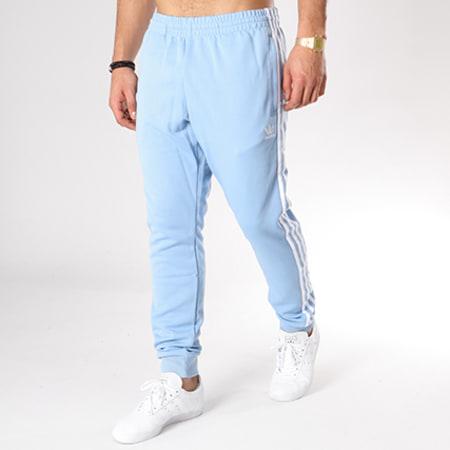 adidas Pantalon Jogging Bandes Brodées SST CW1277 Bleu