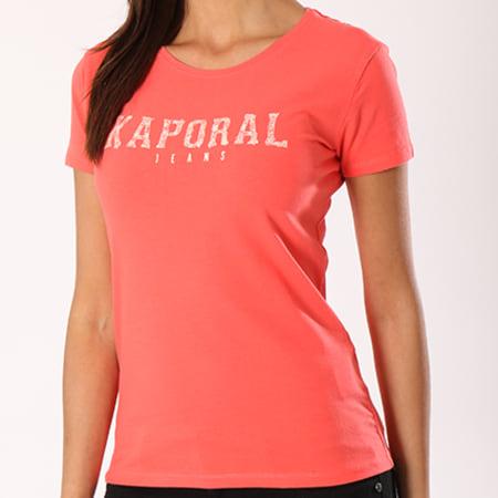 Kaporal Tee Shirt Femme Visa Corail
