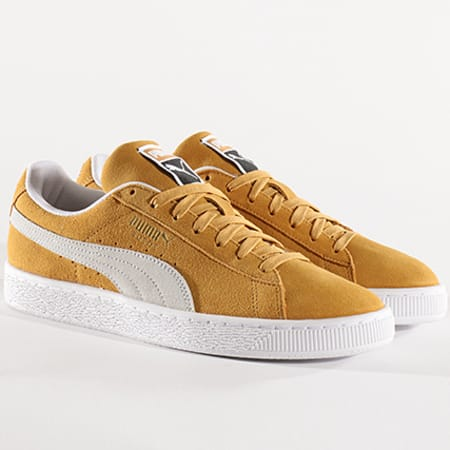 Puma Baskets Suede Classic 365347 10 Honey Mustard White