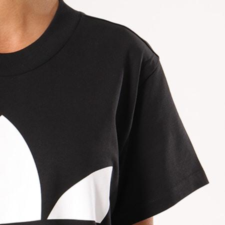 adidas Tee Shirt Oversize Femme Big Trefoil CE2436 Noir