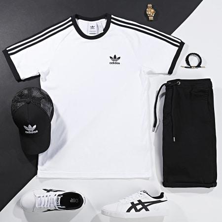 adidas - Tee Shirt 3 Stripes CW1203 Blanc Noir