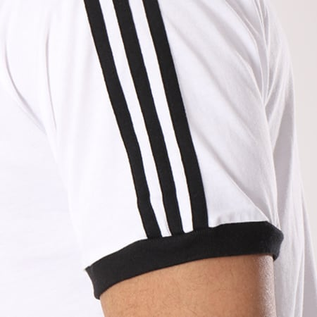 adidas - Tee Shirt 3 Stripes CW1202 Blanc Noir
