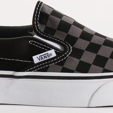 Vans - Baskets Classic Slip-On EYEBPJ Black Pewter Checkerboard