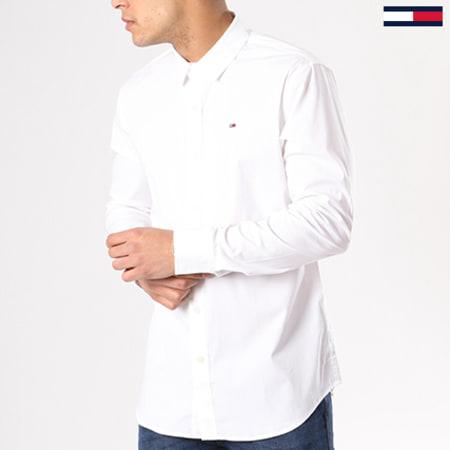 Tommy Hilfiger Jeans - Chemise Manches Longues TJM Original Stretch 4405 Blanc