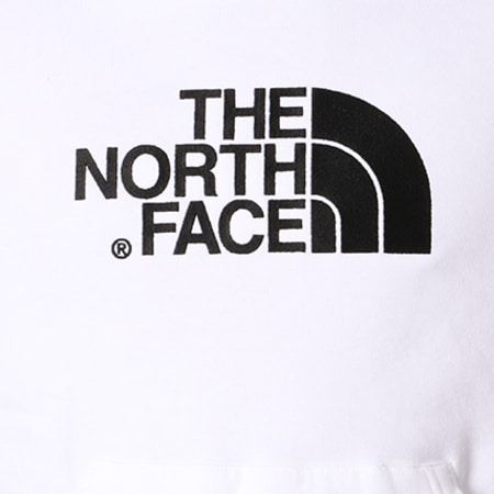 The North Face - Sweat Capuche Drew Peak Blanc Noir