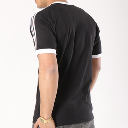 adidas - Tee Shirt 3 Stripes CW1202 Noir Blanc