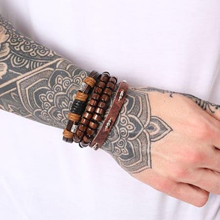 California Jewels - Lot De 4 Bracelets Ethnic Noir Marron