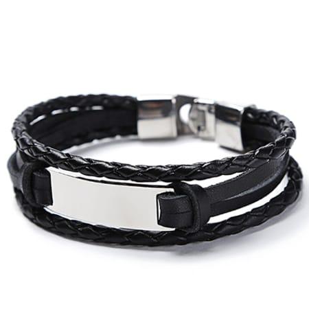 California Jewels - Bracelet B864-1 Noir Argenté