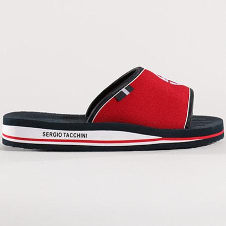 Sergio Tacchini - Claquettes STM819020 Deep White Dark Red
