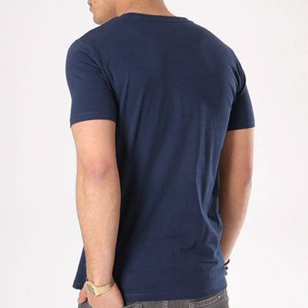 NASA - Tee Shirt Worm Logo Bleu Marine