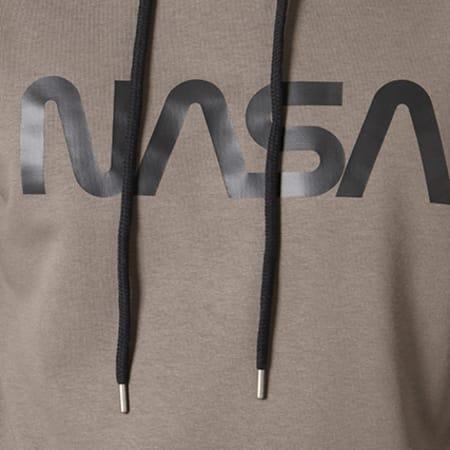 NASA - Sweat Capuche Worm Logo Vert Kaki