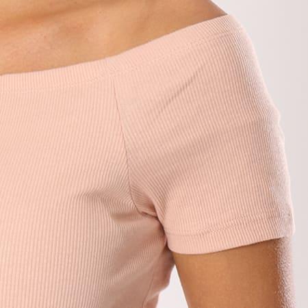 Urban Classics - Tee Shirt Crop Femme TB1500 Rose Pale