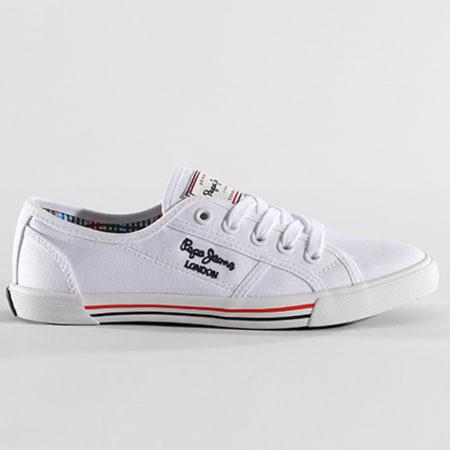 Pepe Jeans Baskets Femme Aberlady Basic 17 PLS30500 White