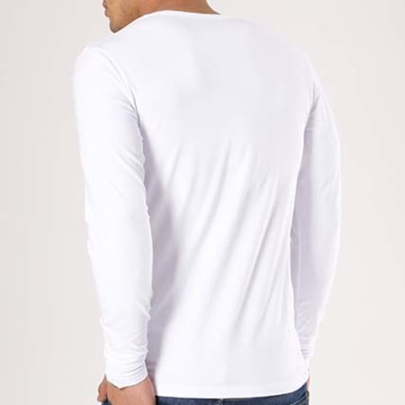 Jack And Jones - Tee Shirt Manches Longues O Neck Blanc