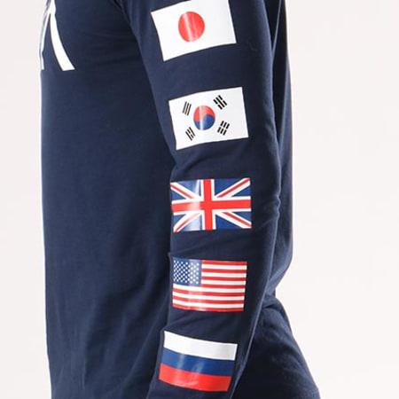 NASA - Tee Shirt Manches Longues Flags Bleu Marine