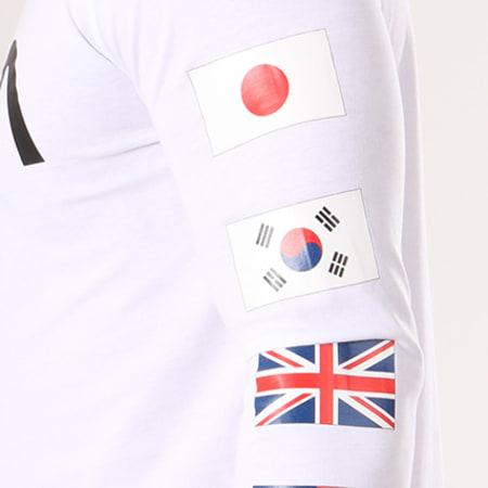 NASA - Tee Shirt Manches Longues Flags Blanc