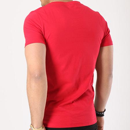 Vald - Tee Shirt Bonjour Bleu Marine Blanc Rouge