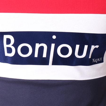 Vald - Tee Shirt Bonjour 2 Bleu Marine Blanc Rouge