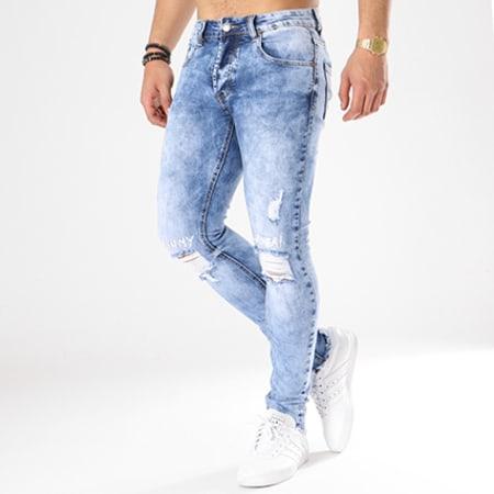 Aarhon - Jean Slim A89 Bleu Wash