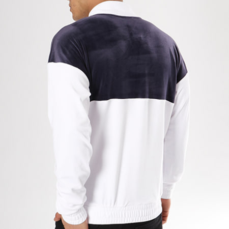 Fila Sweat Velours Easton 684330 Bleu Marine Blanc