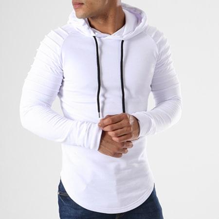 LBO - Sweat Capuche Oversize 409 Blanc