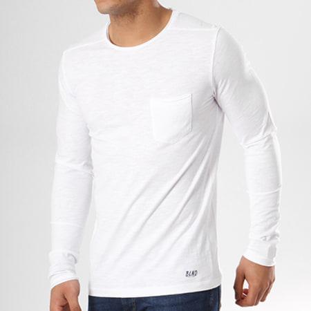 Blend - Tee Shirt Manches Longues Poche 20703060 Blanc