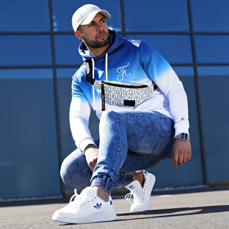 Final Club - Sweat Capuche Dégradé Avec Broderie 036 Bleu Et Blanc