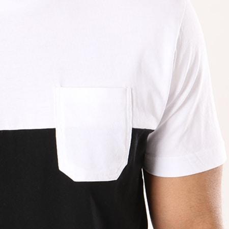 Urban Classics - Tee Shirt Poche TB2055 Noir Blanc