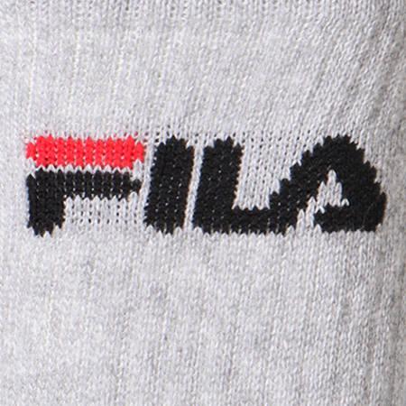 Fila - Lot De 3 Paires De Chaussettes Calze Tennis F9505 Blanc Noir Gris Chiné