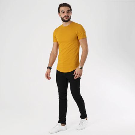 Aarhon - Tee Shirt Oversize 1808 Jaune Moutarde
