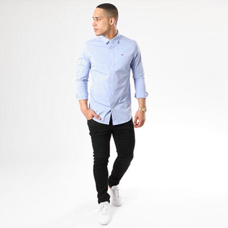 Tommy Hilfiger Jeans - Chemise Manches Longues TJM Original Stretch 4405 Bleu Clair