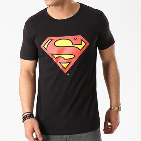 Superman - Tee Shirt Superman Logo Noir