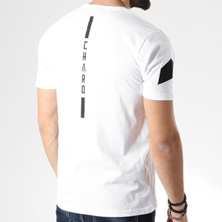Charo - Tee Shirt Stroke Blanc