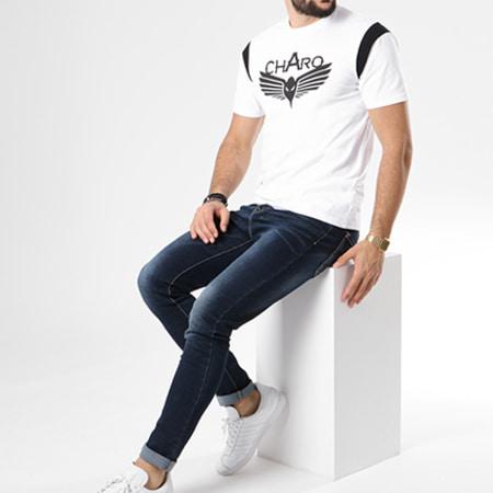 Charo - Tee Shirt Varsity Blanc