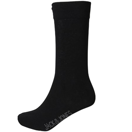 Jack And Jones - Lot De 5 Paires De Chaussettes Jens Noir Gris Anthracite Chiné