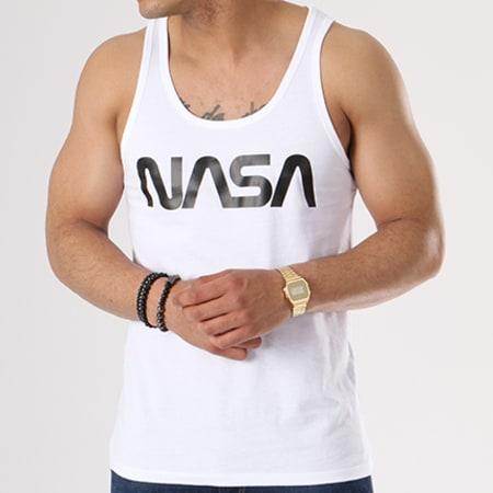 NASA - Débardeur Worm Logo Blanc