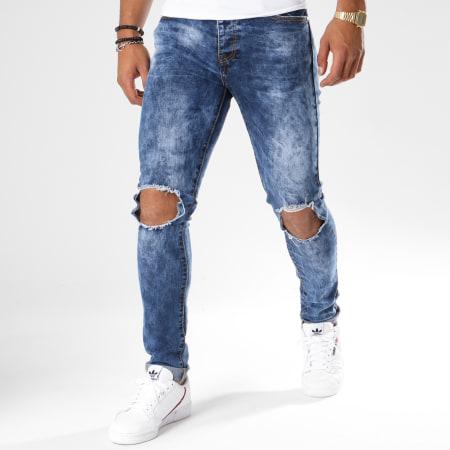 LBO - Jean Skinny Troué 72215-2 Denim Bleu Medium