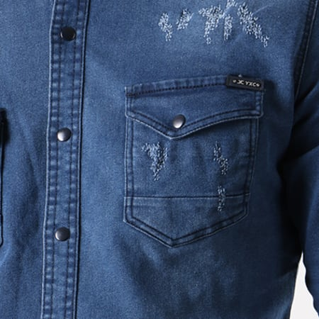 Classic Series - Chemise Manches Longues Jean 16348 Bleu Marine