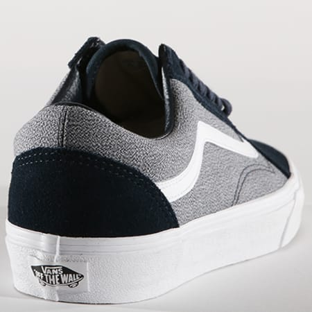 vans baskets old skool suiting a38g1q74 blueberry true white