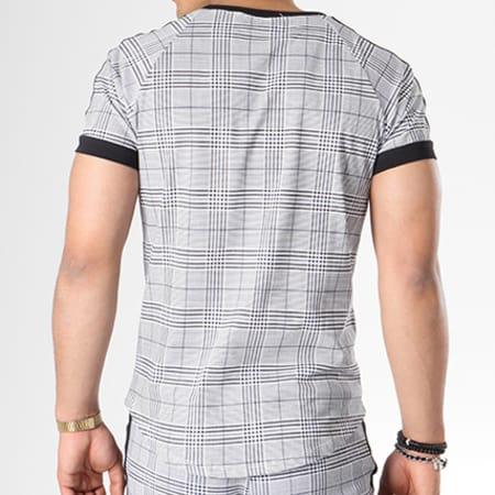 Frilivin - Ensemble Tee Shirt Oversize Pantalon Jogging Avec Bandes 5003 Noir Gris