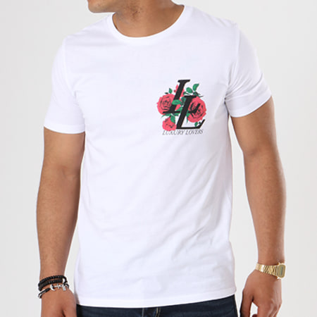Luxury Lovers - Tee Shirt Emblem Blanc