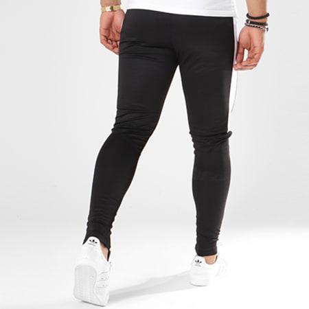 Aarhon - Pantalon Jogging 105 Avec Bande Noir Blanc