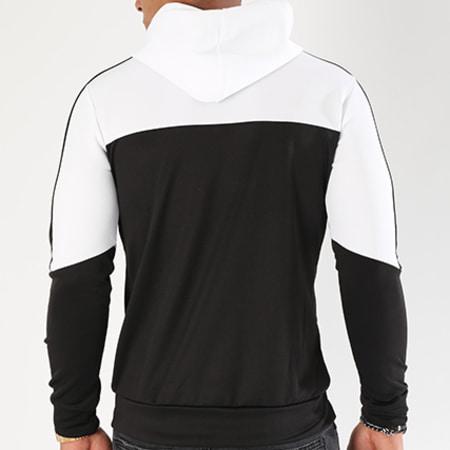Aarhon - Sweat Capuche 104 Bicolore Noir Blanc