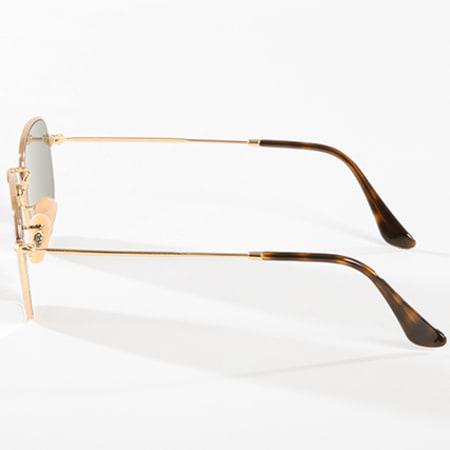 Ray-Ban - Lunettes de Soleil Hexagonal Flat Lenses Doré Argent Flash
