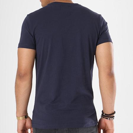 Calvin Klein - Tee Shirt Basic Monogram Box Logo 7842 Bleu Marine